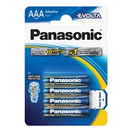 Baterie AAA(LR03) alkalická PANASONIC Evolta 4BP