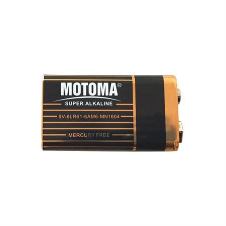 Baterie alkalická 9V MOTOMA Black edition