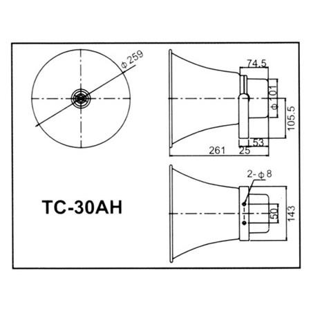 Reproduktor TC-30AH