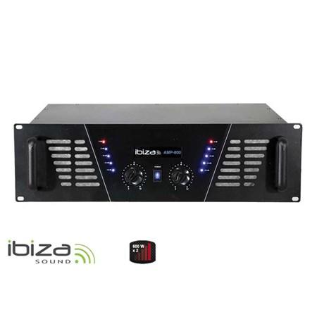 Zesilovač IBIZA 2x600W AMP800 černý