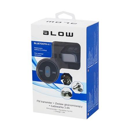 Transmitter do auta FM BLOW + HandsFree BLUETOOTH + nabíječka 2x USB