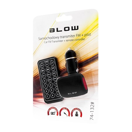 Transmitter do auta FM BLOW USB SD/MMC červená
