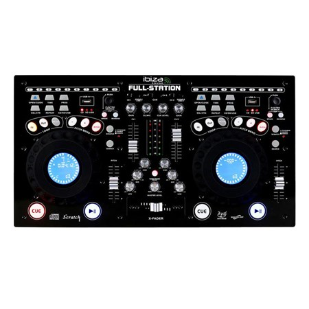 Mixážní pult IBIZA FULL-STATION s dvoj CD/USB/SD