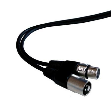 Vodič mikrofonní nebo DMX vodič 1,5m, XLR koncovka, XLR zásuvka