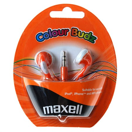 Sluchátka Maxell 303360 Colour Budz Orange