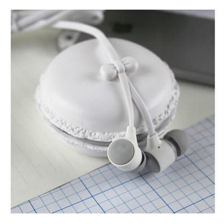 Sluchátka do uší silikonová Macarone bílá