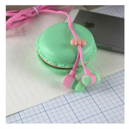 Sluchátka do uší silikonová Macarone zelená