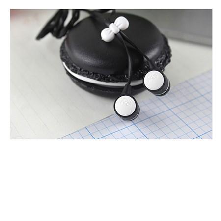 Sluchátka do uší silikonová Macarone černá