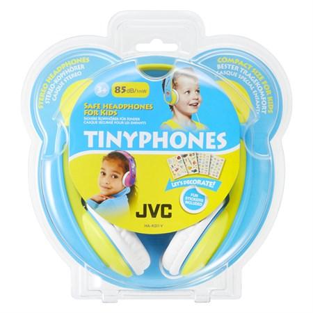 Sluchátka JVC HA KD7Y, uzavřená dětská, omezovač hlasitosti