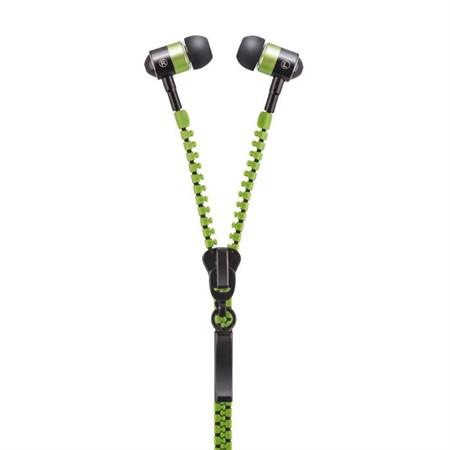 Sluchátka do uší FOREVER ZIP zelená