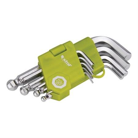 L-klíče imbus krátké, sada 9ks 1,5-2-2,5-3-4-5-6-8-10mm, s kuličkou EXTOL CRAFT