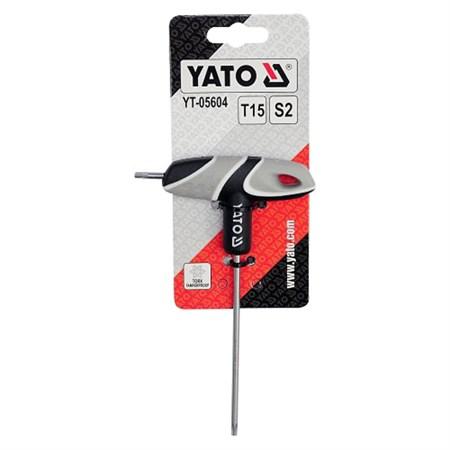 Šroubovák T TORX T15 s otvorem T15 YATO YT-05604