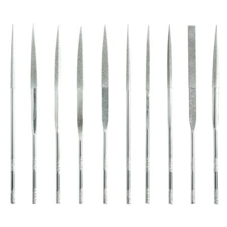 Sada diamantových pilníků, 10 ks