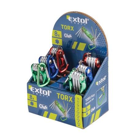Klíče TORX, sada 8ks EXTOL CRAFT