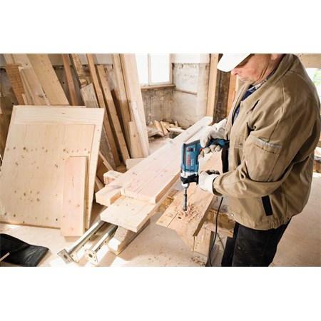 Vrtačka příklepová + plastový kufr, Bosch GSB 16 RE 060114E500