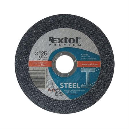 Kotouč řezný na ocel, 125x1,0x22,2mm, EXTOL PREMIUM 8808102