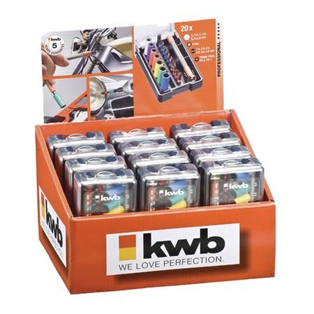 Šroubovák s 20 bity a násatvci Professional KWB 115600