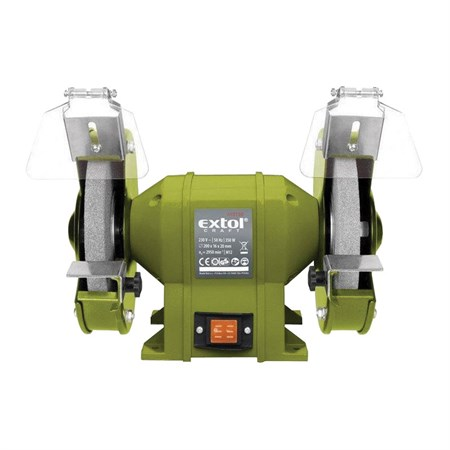 Bruska stolní dvoukotoučová, 350W, 200x16x š.20mm, EXTOL CRAFT