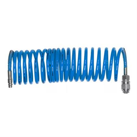 Hadice vzduchová spirálová s rychlospojkami 1/4'', ∅vnitřní 6mm, L 5m EXTOL CRAFT