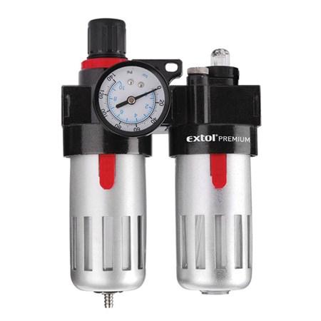 Regulátor tlaku s filtrem a manometrem a přim. oleje 8bar (0,8MPa) EXTOL PREMIUM 8865105