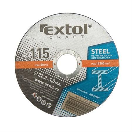 Kotouče řezné na kov, 5ks 230x1,9x22,2mm EXTOL CRAFT 106950