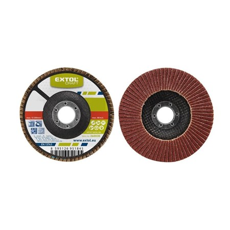 Kotouč lamelový šikmý korundový, P100, 115mm, KORUND, EXTOL CRAFT 260010