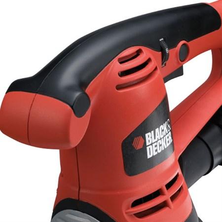Bruska excentrická BLACK & DECKER 480W, 125mm, regulace otáček, kufr KA191EK-QS