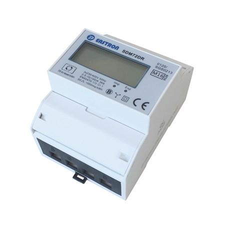 Elektroměr 3F na DIN lištu třífázový 72DR s MID certifikátem, digitální