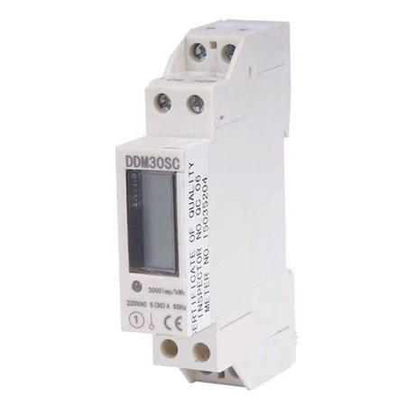 Elektroměr 1F na DIN lištu DDM30SC