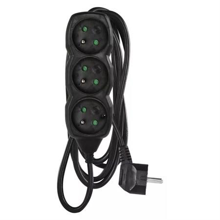 Prodlužovací kabel 3 zásuvky  3m černý