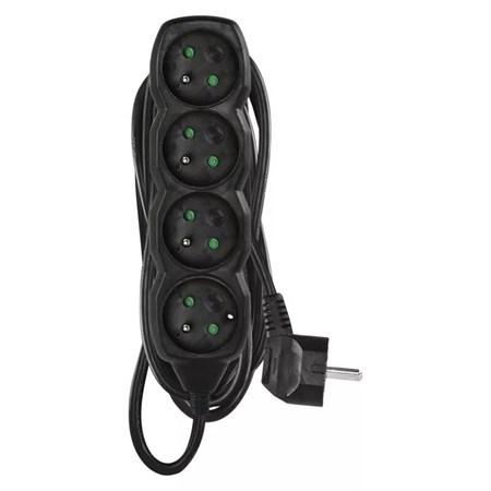 Prodlužovací kabel 4 zásuvky  5m černý