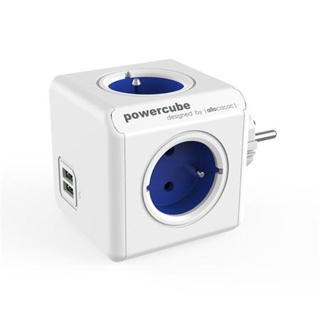 Zásuvka PowerCube ORIGINAL USB modrá
