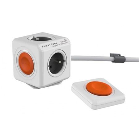 Zásuvka PowerCube EXTENDED REMOTE SET s kabelem 1.5m bílá