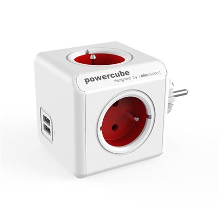 Zásuvka PowerCube ORIGINAL USB červená