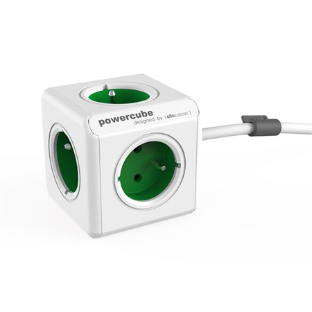Zásuvka PowerCube EXTENDED s kabelem 1.5m zelená