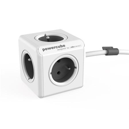 Zásuvka PowerCube EXTENDED s kabelem 1.5m šedá