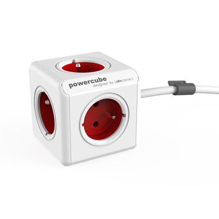Zásuvka PowerCube EXTENDED s kabelem 3m červená