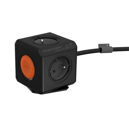 Zásuvka PowerCube EXTENDED REMOTE SINGLE s kabelem 1.5m černá