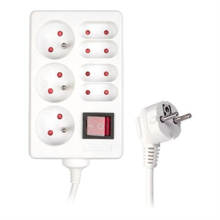 Prodlužovací přívod s vypínačem 7 zásuvek (3+ 4 zásuvky) 1,5m SENCOR SPC 36