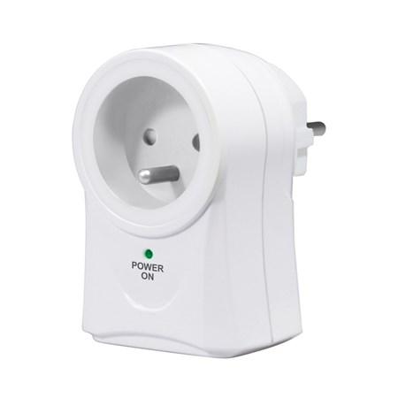 přepěťová ochrana do zásuvky, 306J, 1 zásuvka, otočná o 360°, 2x USB výstup