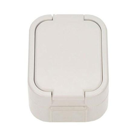Zásuvka nástěnná do vlhka s víčkem bílá 5D06