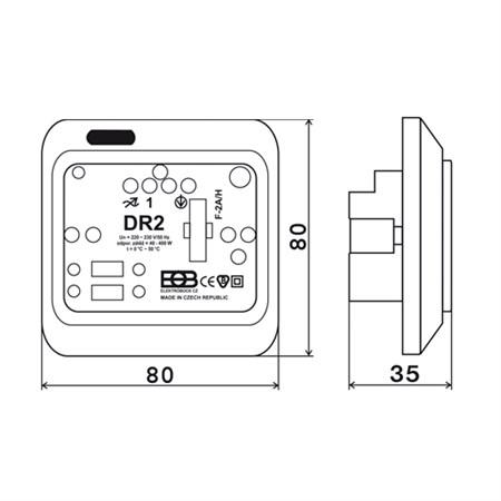 Dotykový regulátor osvětlení DR2-S bílý