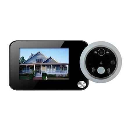 Dveřní digitální kukátko s kamerou a LCD monitorem, kamera se záznamem a detekcí pohybu VN-3502M