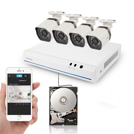 Kamera set ZMODO 720P sPoE 4CH NVR + 4x IP CAM + 1TB HDD digitální