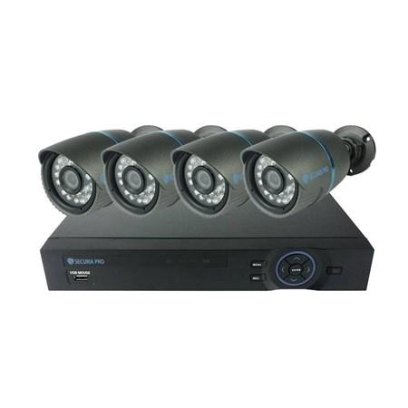 Kamera set SECURIA PRO AHD4CHV1 720P 4CH DVR + 4x IR CAM analog