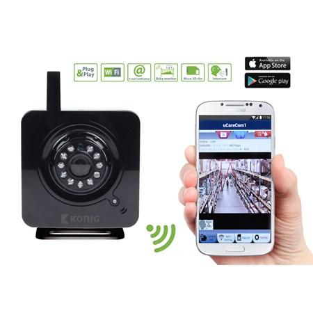 Kamera IP WiFi KÖNIG SAS-IPCAM100B vnitřní