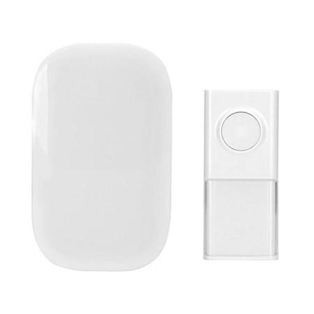 Zvonek domovní bezdrátový 1L43 do zásuvky, 150m, bílý, learning code