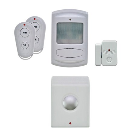 GSM Alarm set, pohybový senzor, siréna, okenní senzor + 2x dálk. ovl., bílý, 1D12, SOLIGHT