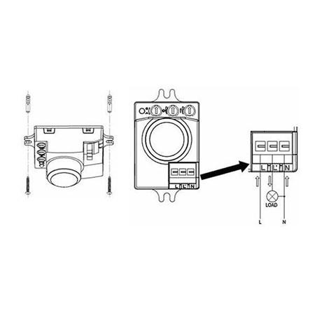 Mikrovlnný senzor (pohybové čidlo) ST701D