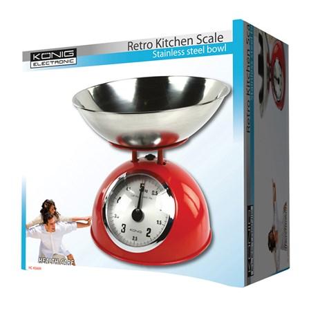 Váha kuchyňská retro KÖNIG HC-KS60R červená